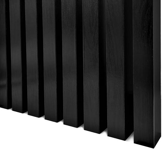 Wood Oak Wall Panels | 3 M / Black