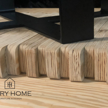 Plywood in the form of coffee tables