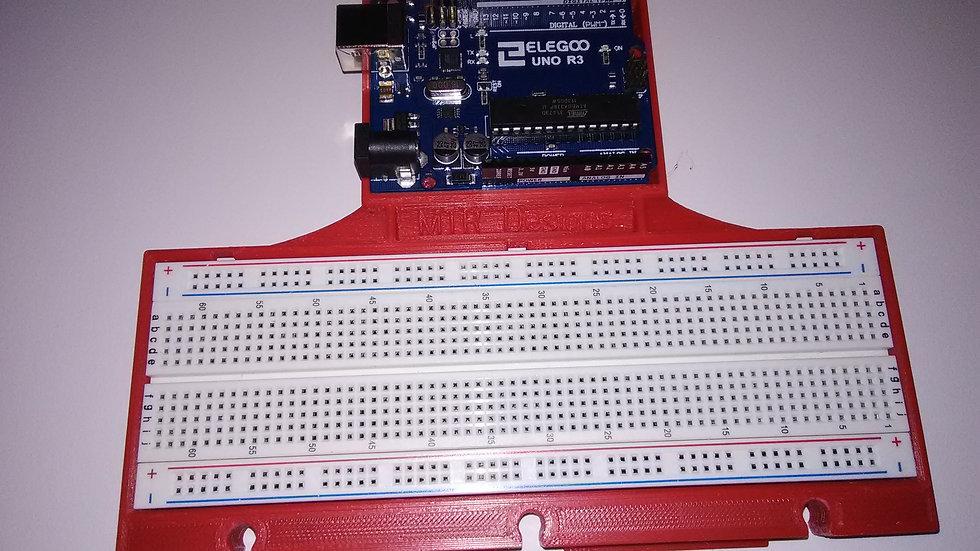 Arduino UNO breadboard support