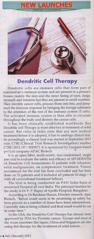 Dendritic cell therapy News