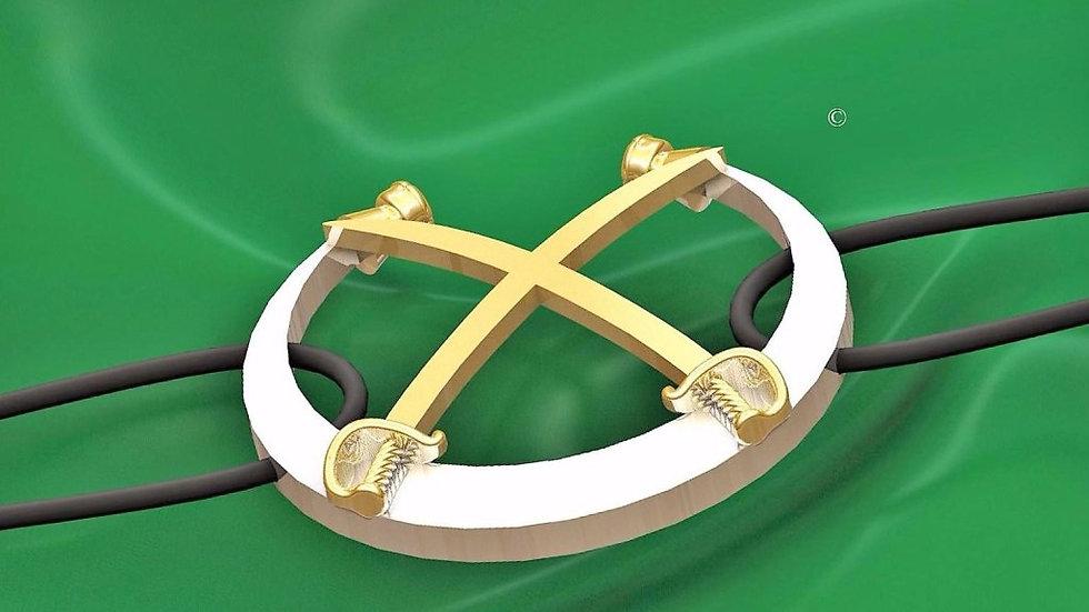 Bracelet cordon Or + Argent 18 carats