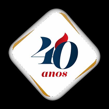 Logo 40 Anos FAESP - Fundo Less Light.pn
