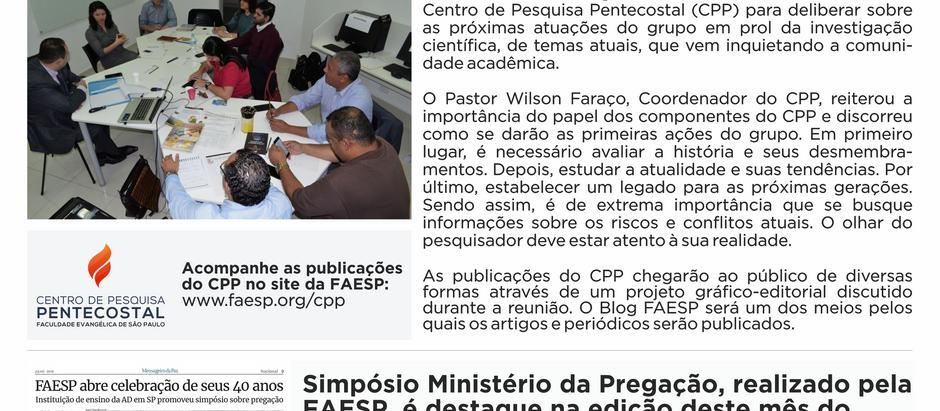 Boletim FAESP - 1ª Edição (julho/2019)