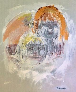 abstract målning av Klara Yvonne Klingspor