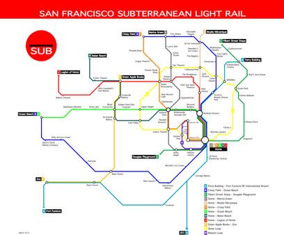 San Francisco Subterranean Light Rail