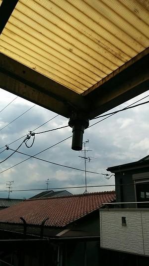 高槻市 配管改修 雨樋施工中