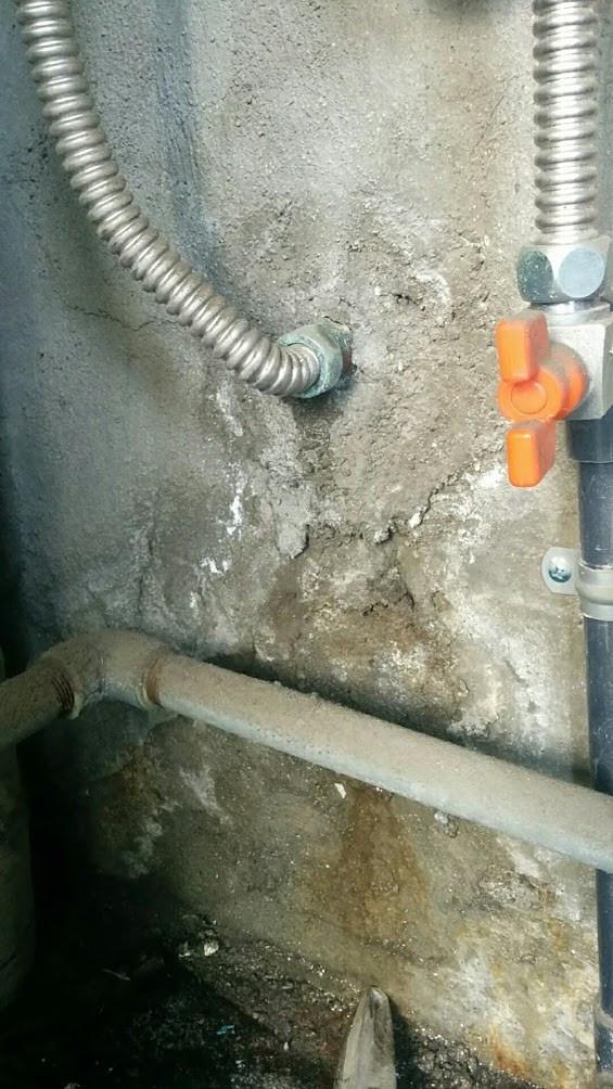 大阪市 Hハイツ様 浴室給湯管漏水修理 配管工事