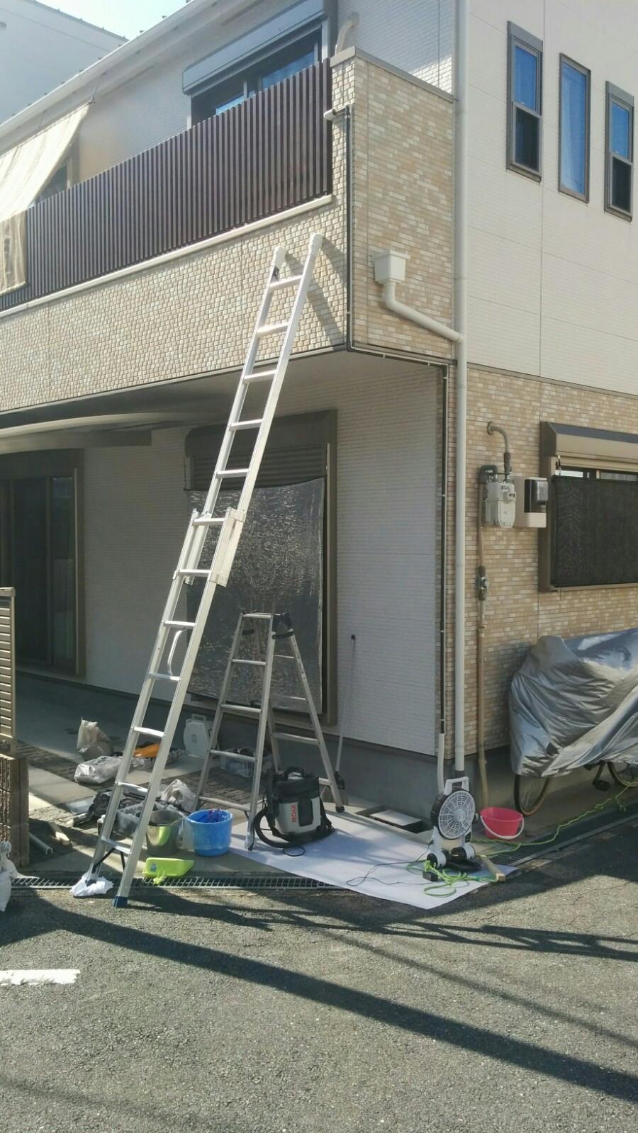 配管接続 完了 東大阪 散水改修工事
