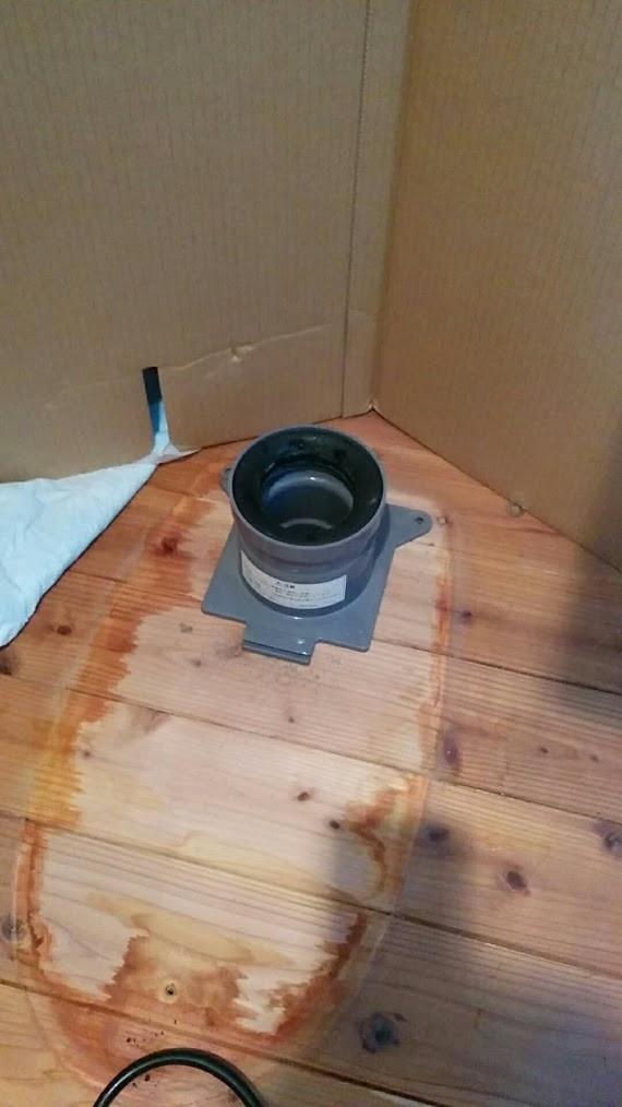 京都府 LIXIL ベーシアシャワートイレ一体型トイレ 取替工事 排水ソケット交換