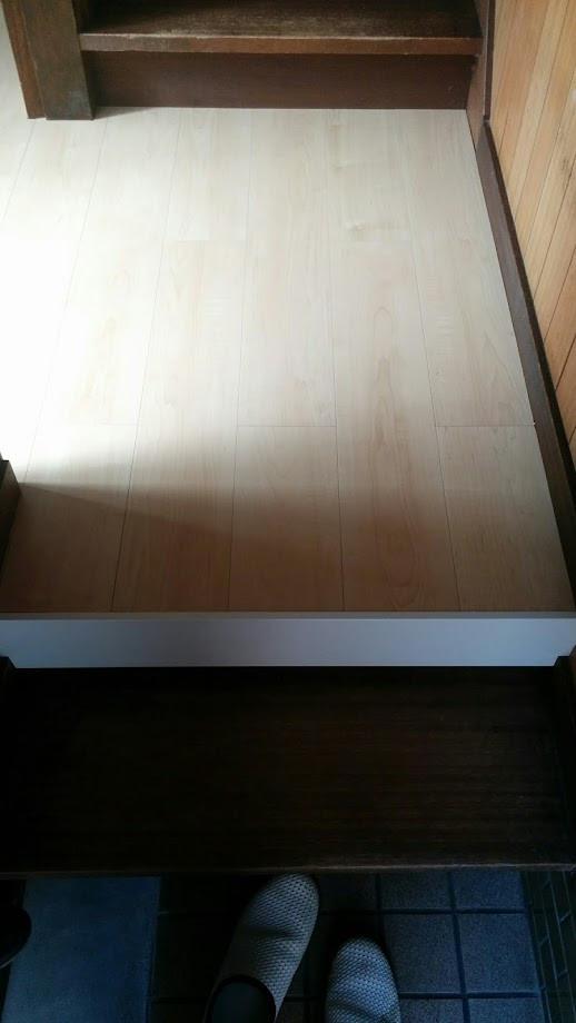 キッチン改装 廊下床 フローリング張り