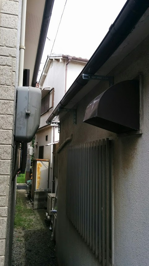 雨樋改修 別アングル 施工後