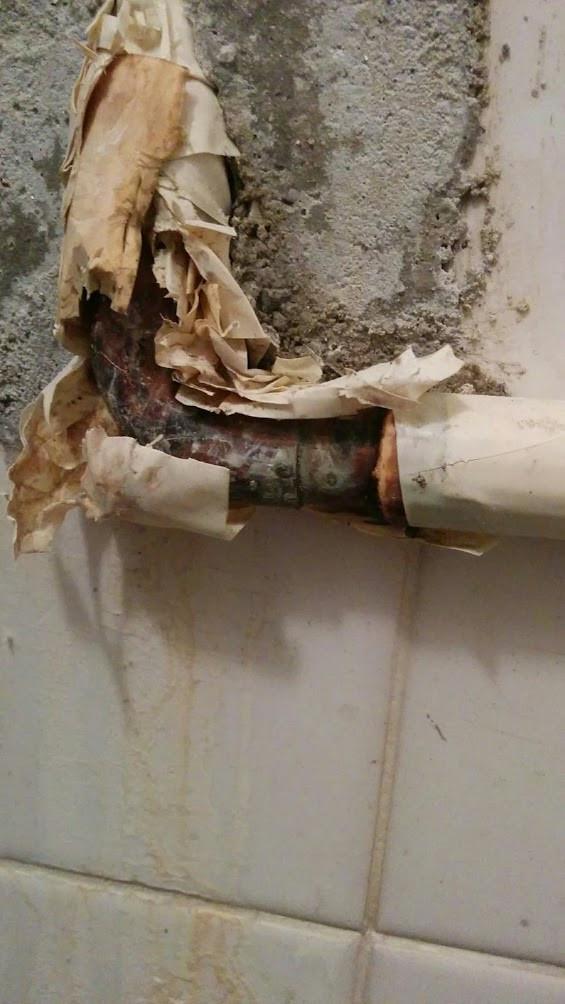 漏水 その他継ぎ手 給湯管