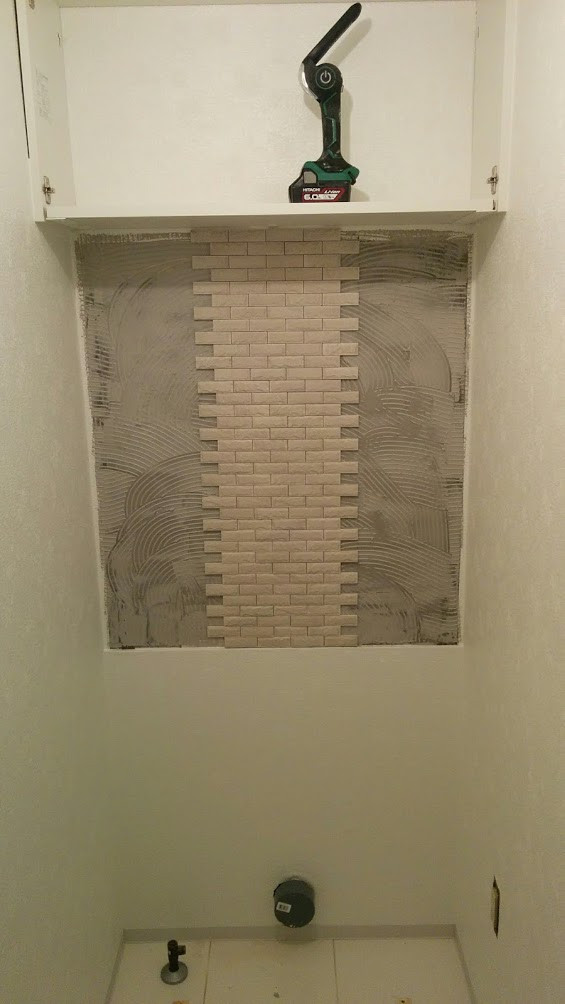 御自宅内装工事中 エコカラット トイレ