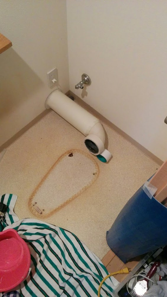 尼崎市 LIXIL INAX ベーシアシャワートイレ一体型便器交換