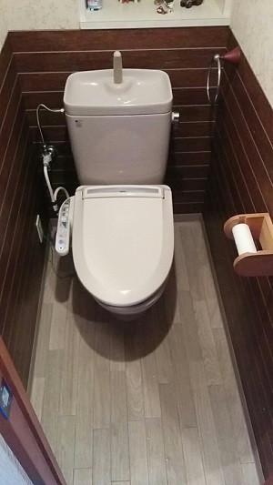 トイレ改装施工前