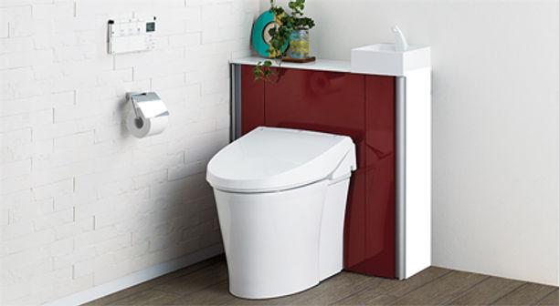 カウンター式 トイレ 手洗い付き リフォーム 内装