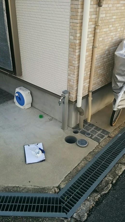 東大阪市 ベランダ散水栓増設及び埋め込み水栓BOX改修工事
