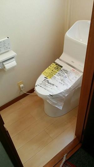 1Fトイレ設置 仕上がり TOTO HVリモデル 紙巻き器 リモコン