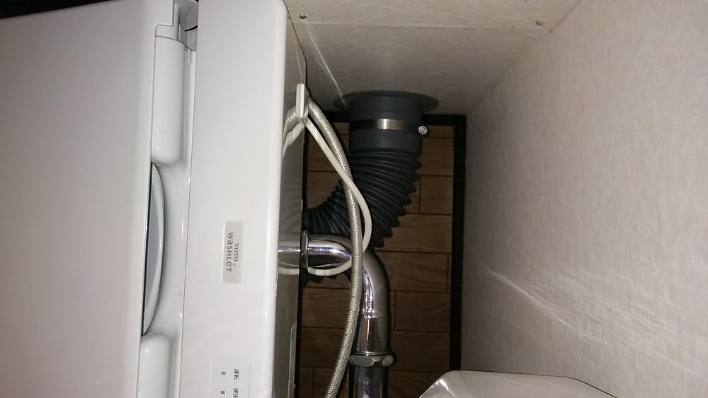 上から 施工後 隅付きタンク 明石市 トイレ改装工事