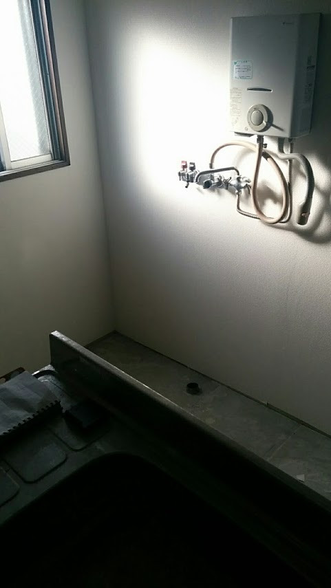 洗濯防水パンと洗面台の増設工事