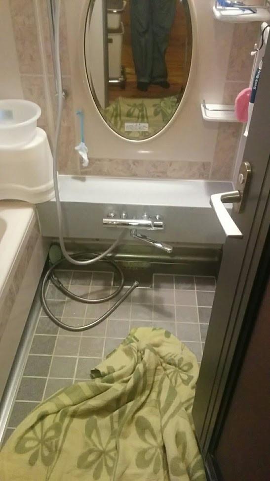 浴室サーモスタットシャワー水栓交換工事 全体図