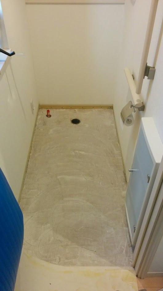 CF施工中 トイレ改装工事 アラウーノ取り付け前