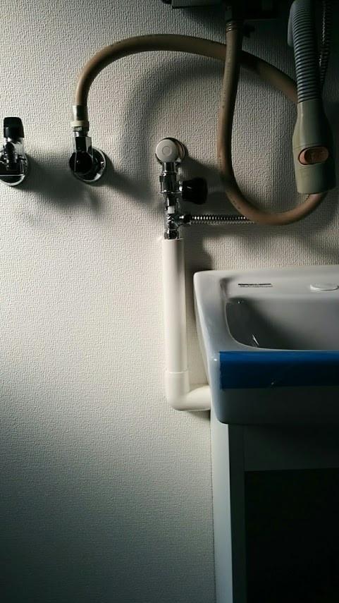 洗濯防水パンと洗面台の増設工事 化粧