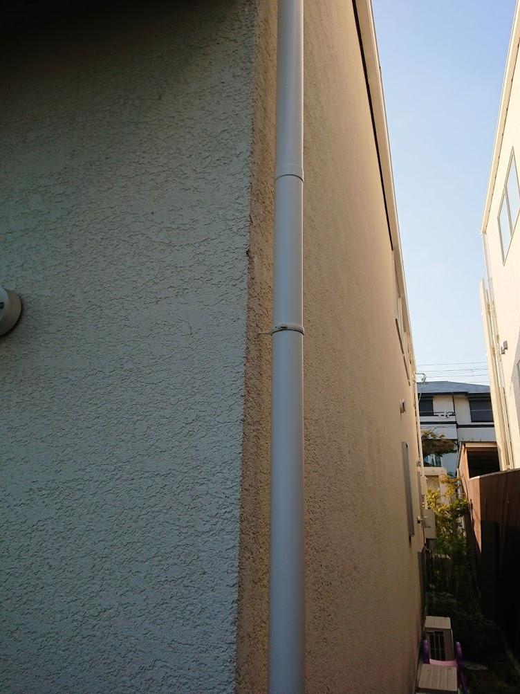 芦屋市 雨樋(竪樋、縦樋)補修配管工事 施工後