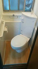 和式から洋式トイレ TOTO コンパクトリモデル便器 施工後 内装仕上げ