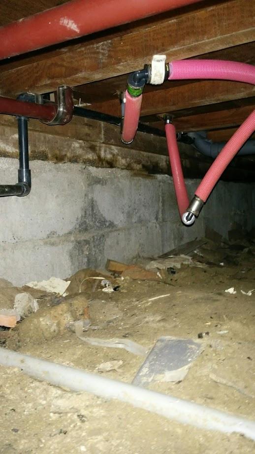キッチン改装 床下配管