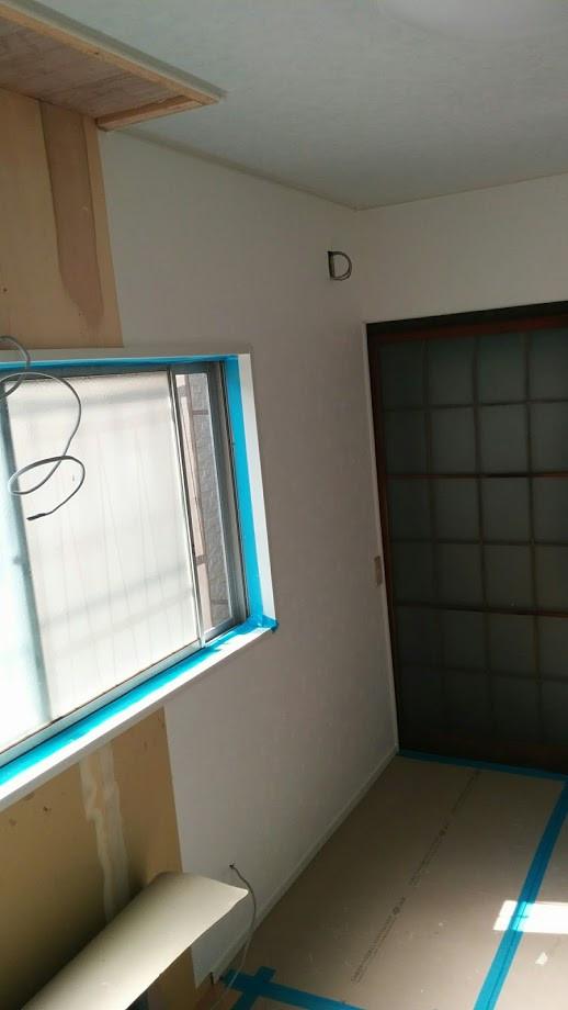 キッチン改装工事 クロス 内装壁紙