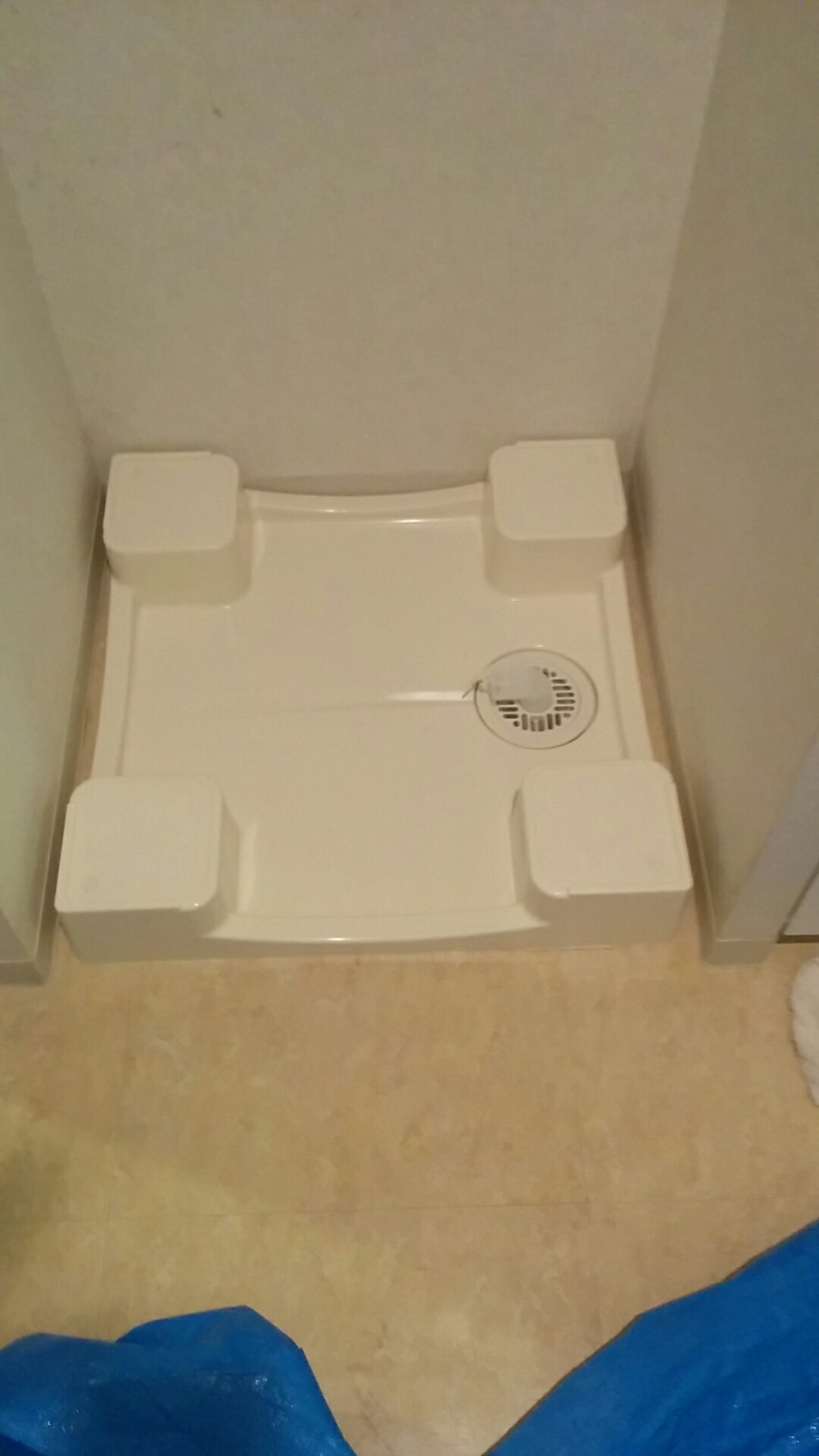 洗濯防水パンかさ上げ 設置後