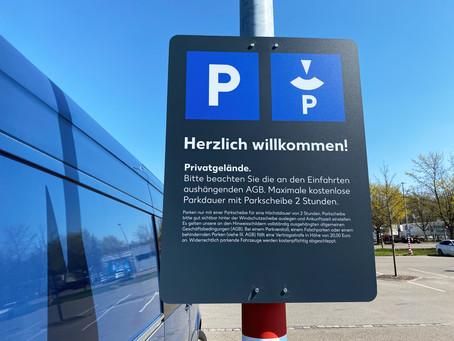 Parkscheibenpflicht – auch auf frei zugänglichen Privat-Parkplätzen wie von Lidl, Aldi & Co.?
