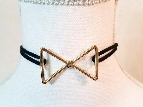 Bow Tie Choke Necklace