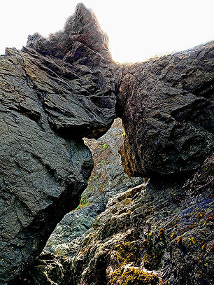 Jeff Goll,Boulders Head-butt Jughandle Beach