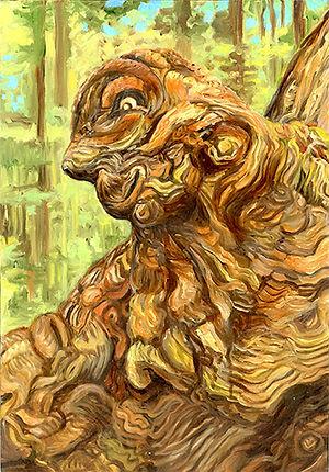 Linda MacDonald Sappy Sam (famous burl of the Redwood Hwy)
