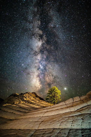 Volkhard Sturzbecher,  White Pocket - Milky Way, Arizona