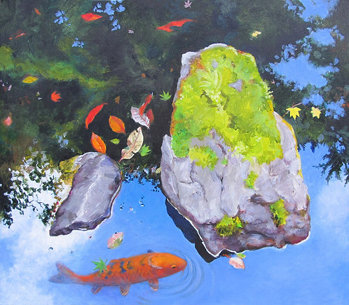 Judy Chance Hope, Two Rocks One Koi