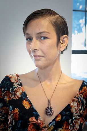 Jessica Clark Gaia Moss agate, amethyst, and pure copper