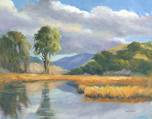 Lynne Whiting Robertson, Pacheco Pond in Gold