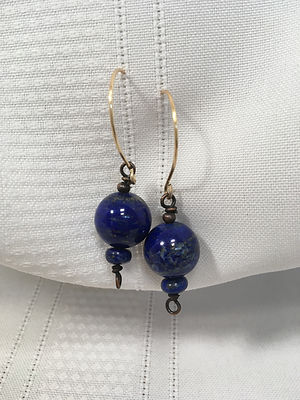 Nancy Finn, Earrings Lapis