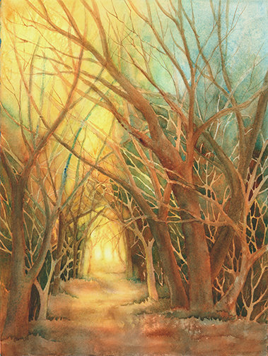 Ann Maglinte, Follow the Path, Giclee' of Original Watercolor