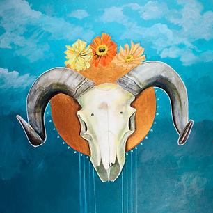 Diza Hope, Ram Skull and Zinnias