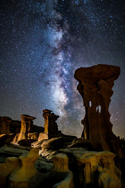 Volkhard Sturzbecher Alien Throne - Milky Way, New Mexico canvas print