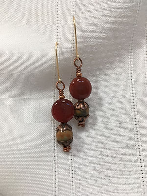 Nancy Finn, Agate Earrings
