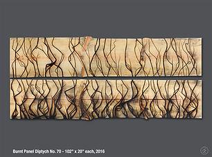 Jonah Ward, Burnt Panel, Dyptich No. 70
