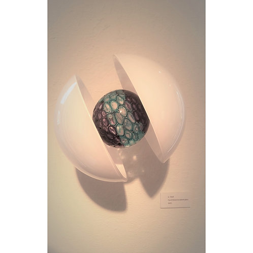 Kale Haschak, E- Shell Blown and sculpted glass