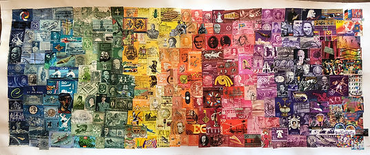 A World of Color  Postage Stamps   $475.00