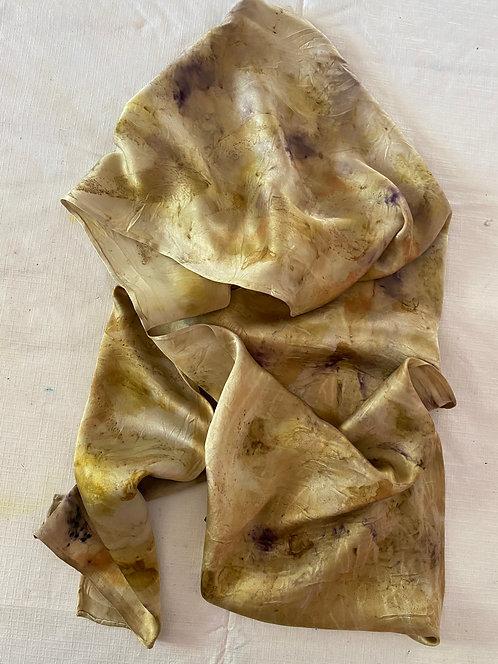 Cassie Gibson Eucalyptus, Walnut and Iron Botanical print on Habotai