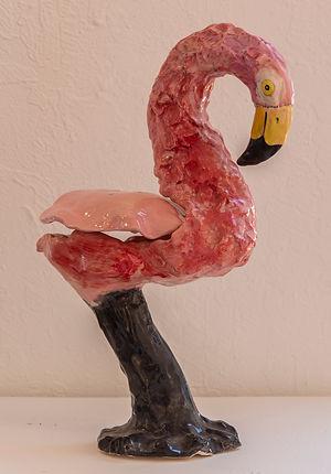 ILeya Stewart    Pink Flamingo Soap Dish